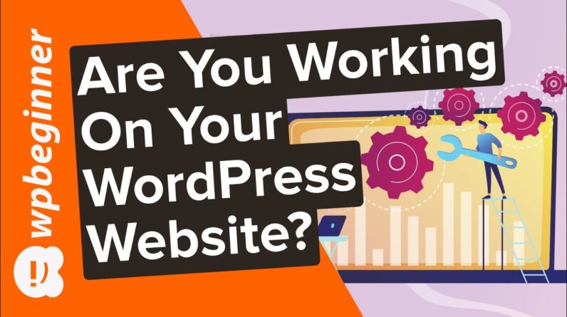 Are You Working on Your WordPress Website?